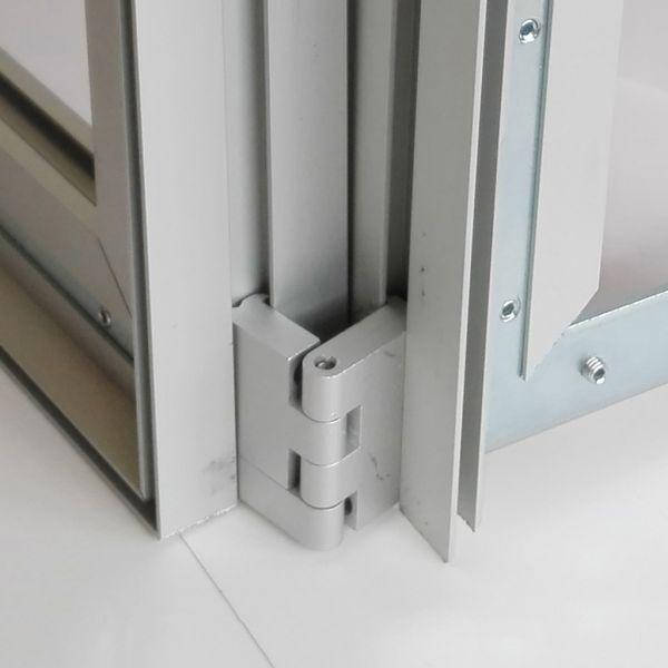 Perfil doble cara 44 mm para tela con silicona
