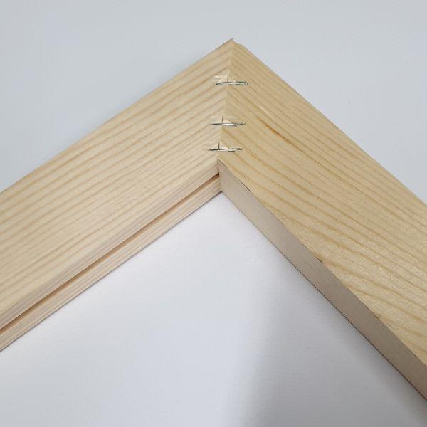 Lienzo con bastidor de madera