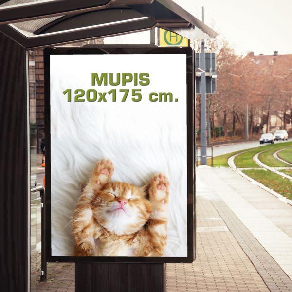 Papel Mupis 120x175 cm. IMP. UV