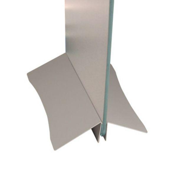Peana metálica de 30 cm. de ancho.