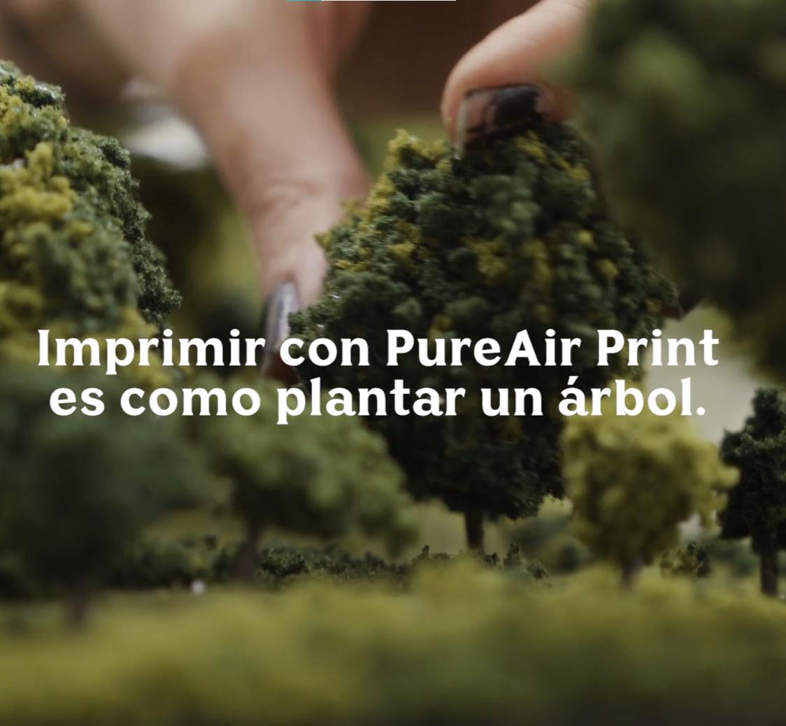 Utilizamos un método de impresión que purifica el aire.